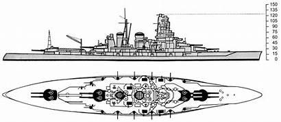 Battleship Drawing Kongo Class Navy Haruna Oni