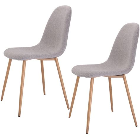set of 2 modern dining accent side chairs wood legs home