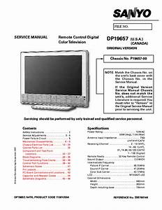 Sanyo Dp19657 Lcd Tv Service Manual Download  Schematics