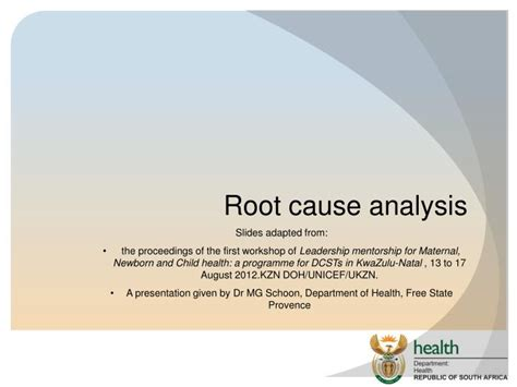 root  analysis powerpoint  id