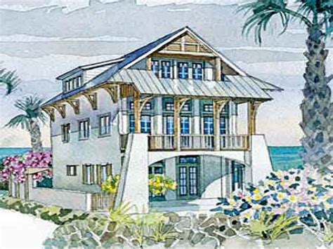 Coastal Homes House Plans Coastal House Plans Narrow Lots