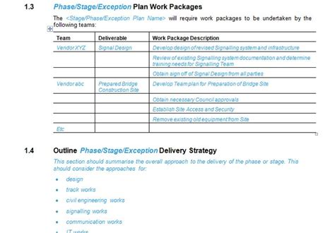 Project Management Work Package Template 17 Best Project Management Plan Template Pmbook Images On