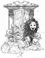 Narnia Coloring Chronicles Aslan Wardrobe Pages Lion Come Witch Colouring Sheets Drawing Adult Printable Books Draw Character Caspian Prince Getcolorings sketch template