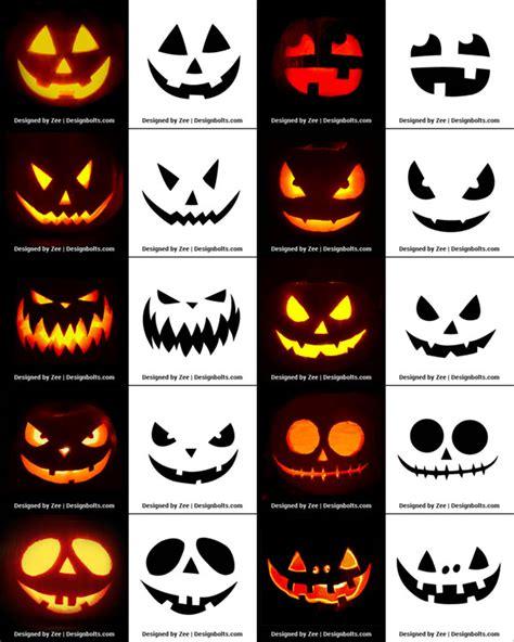 printable halloween pumpkin carving stencils
