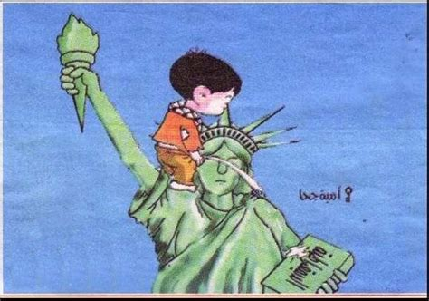 military  hamas statue  liberty cartoon