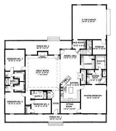 ranch house plans with 2 master suites kinsey country home plan 028d 0022 house plans and more
