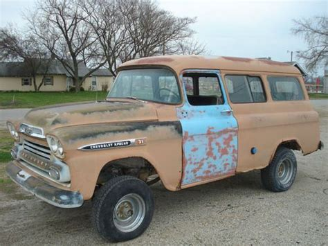 Sell Used 1959 Chevy Napco 4x4 Suburbancarryall In Gentry