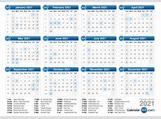 Calendar 2021 – month printable calendar