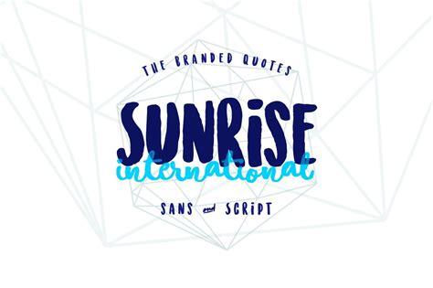 sunrise international font befontscom