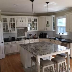 Blue Dunes Granite Countertop - Farmhouse - Kitchen