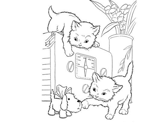Kleurplaat Poesje Mandela by Baby Cat Coloring Pages Coloring Home
