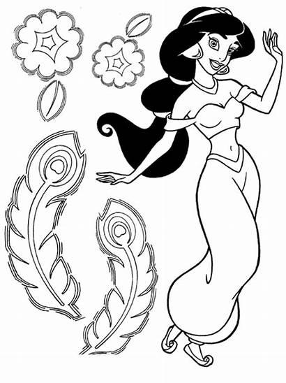 Princess Coloring Jasmine Aladdin