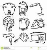 Appliances Electric Sketch Clipart Illustration Electrical Illustrator Different Pdf Clip Hi Kinds Contains Res Blender sketch template