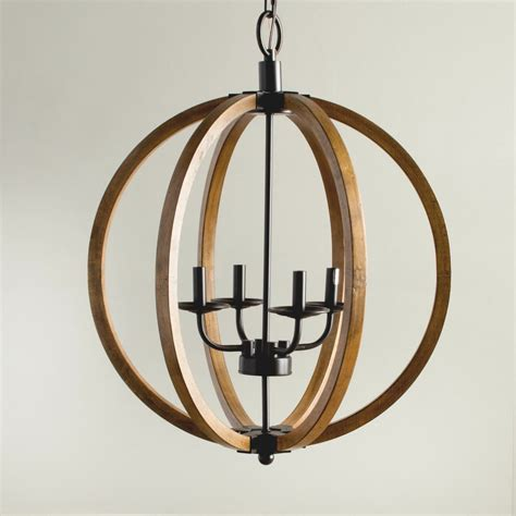 Globe Chandelier Lighting by Modern Chandelier Lighting Globe 4 Lights Wood Ceiling