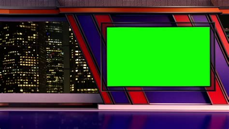 News Tv Studio Set 251 Virtual Green Screen Background