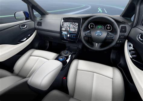 nissan leaf 2017 interior nissan leaf range evolution push evs