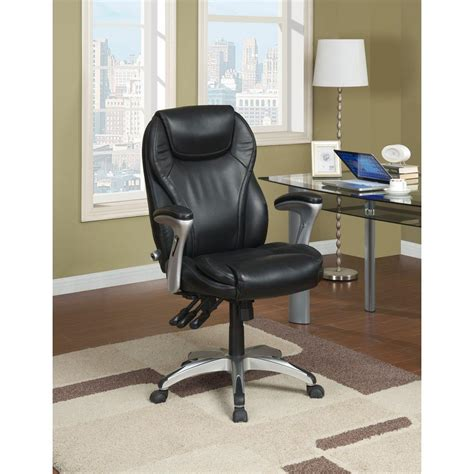 serta black bonded leather executive office chair 43676
