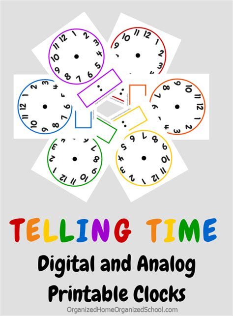 clock printables  telling time lesson tips