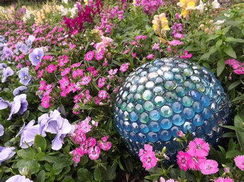 Metal Decorative Spheres by Bowling Ball Garden Art Memes