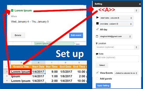 calendar creator google sheets add