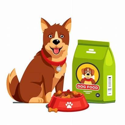 Dog Vector Illustrations Clip Bag Dry Needs
