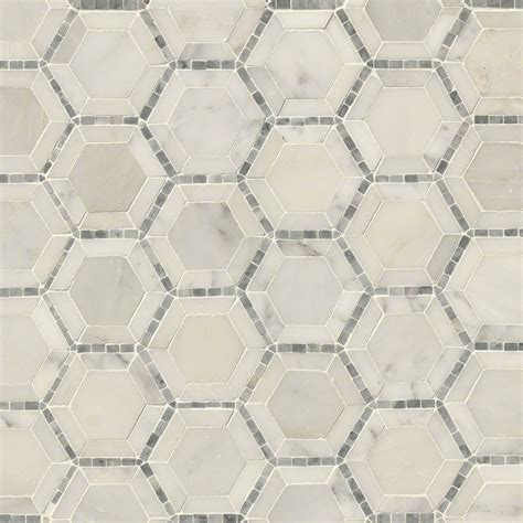 daltile bath accessories telaio 2 quot hexagon polished marble mosaic tile