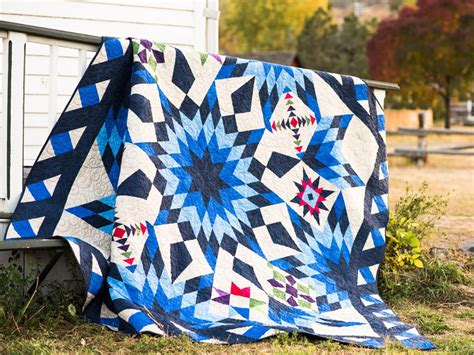 2017 Blazing Star Block Of The Month Quilt Kit Only