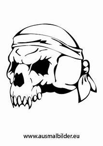 Ausmalbilder Totenschdel Eines Piraten Piraten