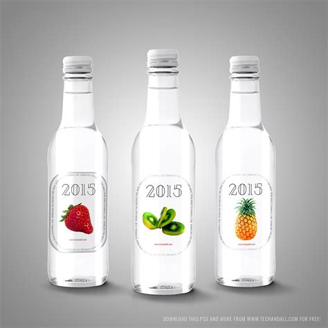 Free beautiful perfume bottle on stand mockup psd. Free Mockup | Labels on Bottles