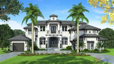 Grand Florida House Plan With Junior Master Suite