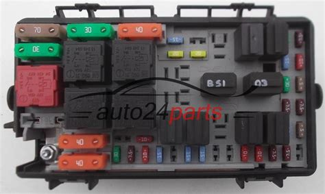 Corsa C Fuse Box List by Fuse Relay Box Electrical Comfort Module Opel