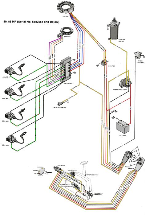 Mercury Thunderbolt Wiring Diagram by Mercury Outboard Wiring Diagrams Mastertech Marin