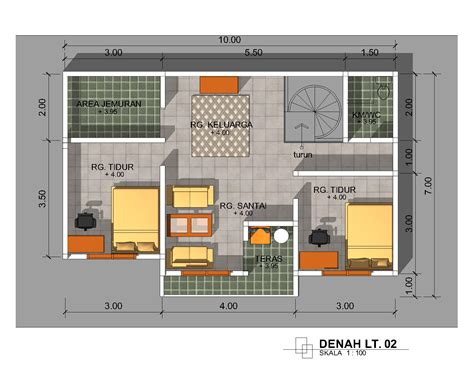update desain denah rumah minimalis ukuran    meter