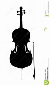 Cello Outline Silhouette Stock Images - Image: 23086854