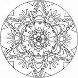 Kaleidoscope Coloring Adults Printable Pages Getdrawings sketch template