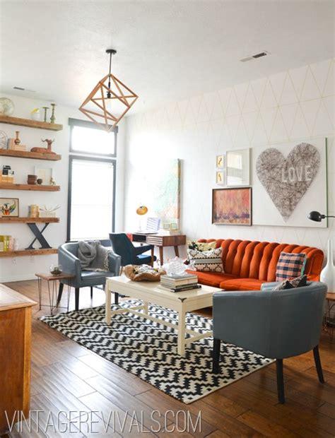 Living Rooms Vintage  Home Design