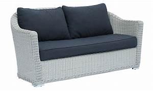canap de jardin 2 places en rsine tresse blanche madera With tapis exterieur avec canapé convertible 2 places longueur 160 cm