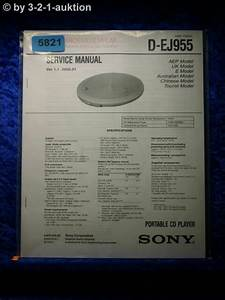 Sony Service Manual D Ej955 Cd Player  5821