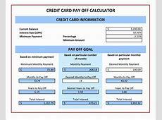 credit card payoff calculator uk