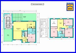 HD wallpapers plan maison 150m2 4 chambres ...