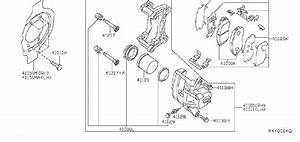 Nissan Maxima Disc Brake Caliper Guide Pin Bolt  Disc
