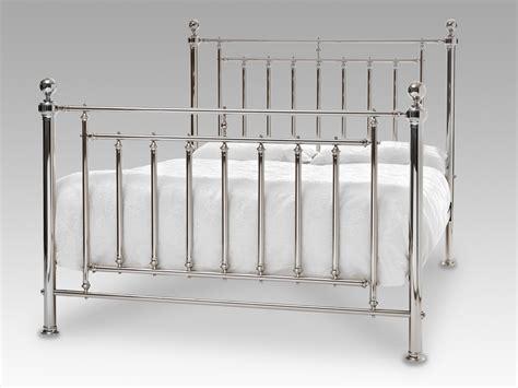 white storage bed king serene solomon king size nickel metal bed frame