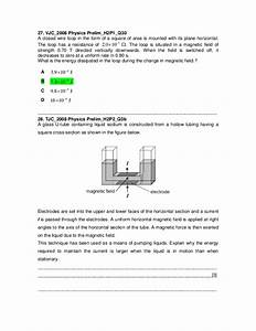 J2 Physics 2008 Prelim Electromagnetic Induction