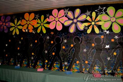 Backdrop Ideas For School colorful backdrop for school concert pool noodles