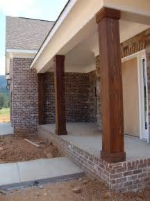 wooden porch posts and columns the rickety brick house pinterest porch posts porch and