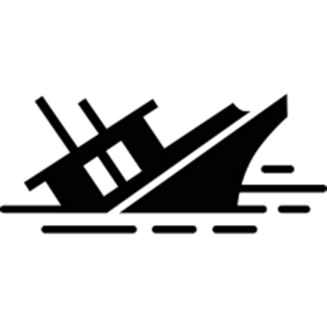Sinking Boat Icon by Shipwreck Icons Noun Project