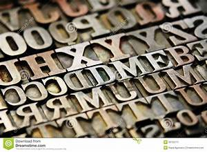 letters stock image image 33722711 With printing letters on wood