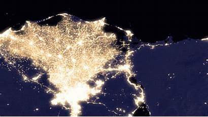 Nile Night Nasa Pollution River Earth Lights