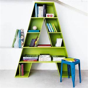 Letter a shaped bookcase for childrens room fresh for Letter shaped bookcase