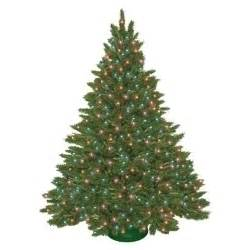 7 5 ft pre lit spruce artificial tree multi color lights green by